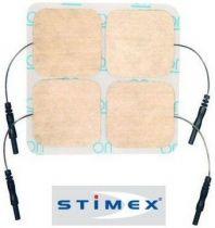 Electrodes Stimex Sporecup : Kit de 4 à Fiche