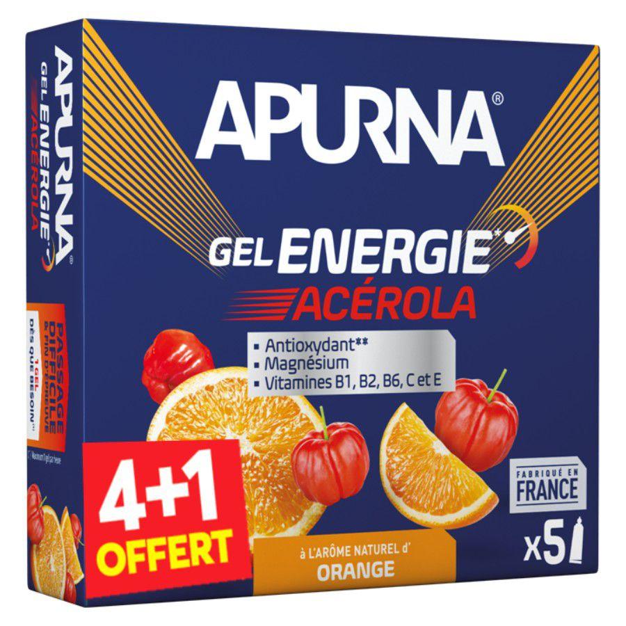 Etui 5 Gels Energie Apurna 35g - Passage Difficile & Fin d\'Epreuve