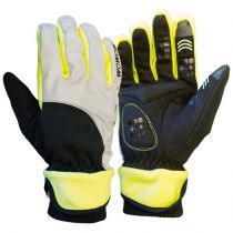 Gants Hiver Chauds Wowow Dark Gloves 4.0 Gris/Noir/Jaune Réfléchissants