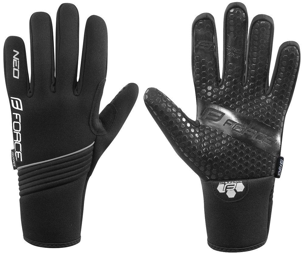 Gants Hiver Force Gloves Winter Neoprène Noir