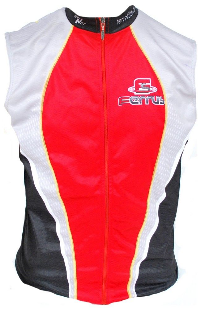 Gilet Ferrus Prestige Windtex Rouge/Noir - Dos Filet