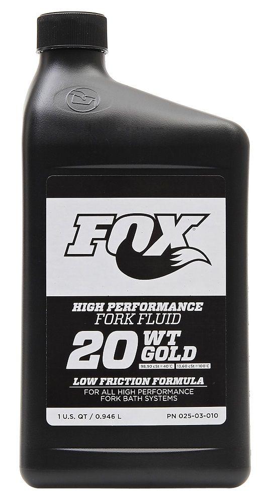Huile Fox 20WT Gold 1 Litre pour Suspensions