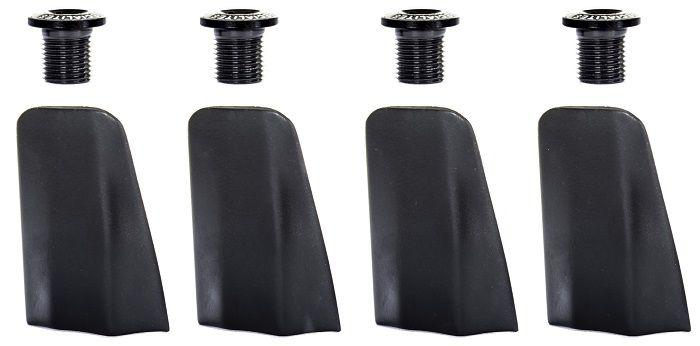 Kit de 4 Caches et Cheminées TA Compatible Shimano Ultegra Noir