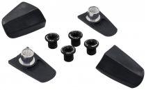 Kit de 4 Caches et Cheminées TA Compatible Shimano Ultegra R8000 Noir