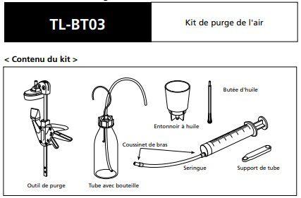 Kit de Purge Freins à Disques Shimano TL-BT03