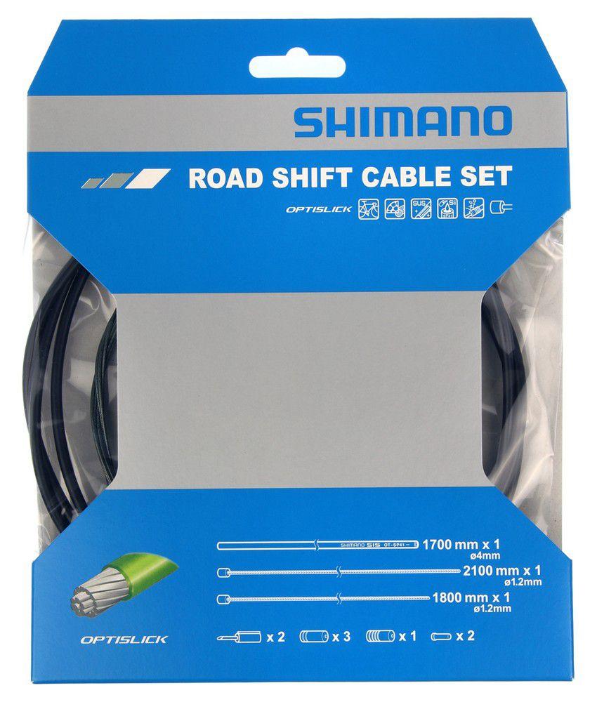 Kit Shimano Dérailleur (Y60198010) Optislik Gaines Couleur + Cables