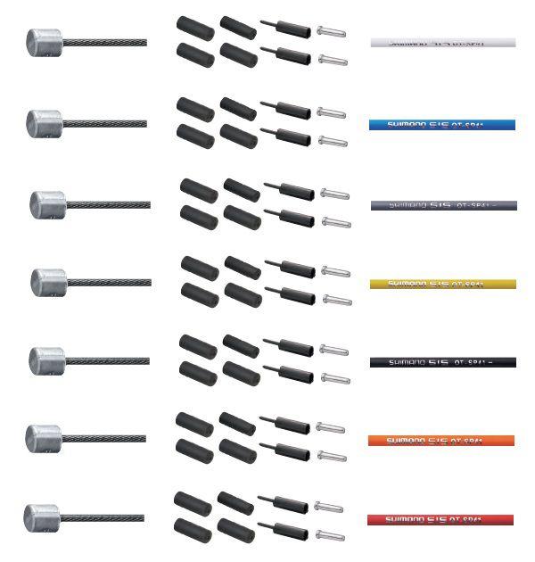 Kit Shimano Optilisk Gaines Couleur + Cables Dérailleur