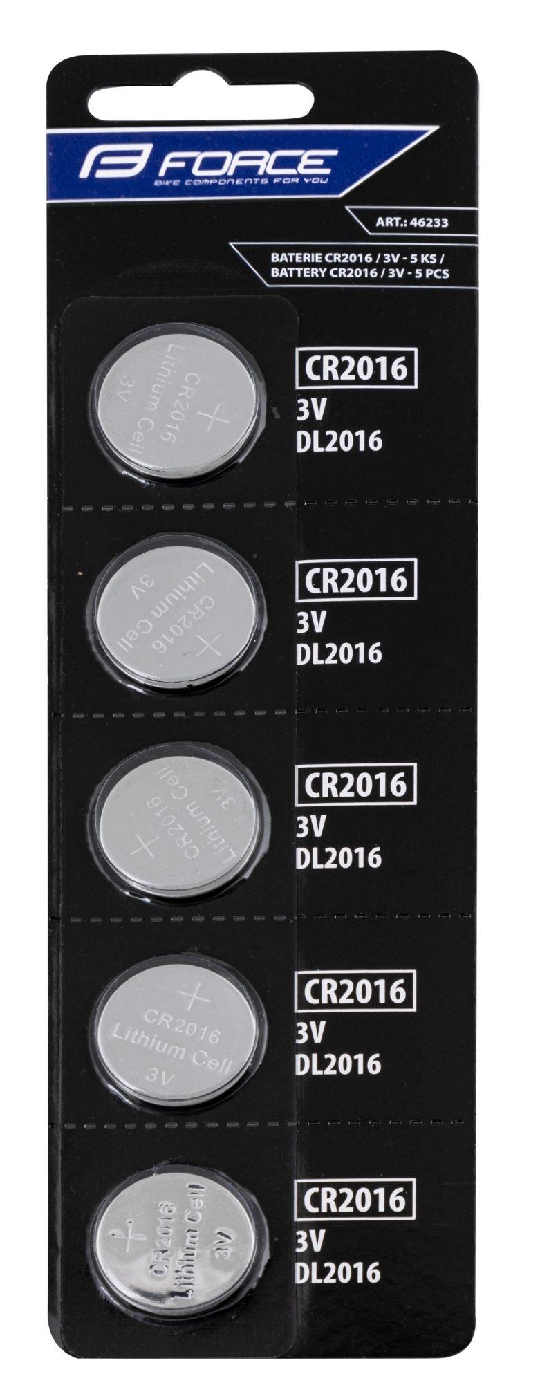 Lot 5 Piles Force CR2016 / 3v