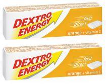 Lot de 2x14 Tablettes Energisantes de Dextrose au Goût d\'Orange avec Vitamine C