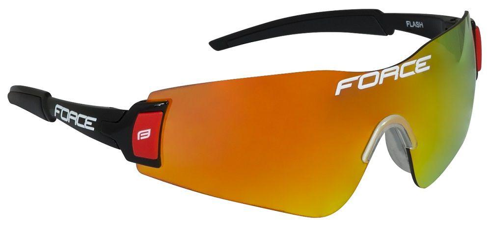 Lunettes Force Flash Noir/Rouge avec 3 Ecrans Intégraux : laser orange, coloré, transparent