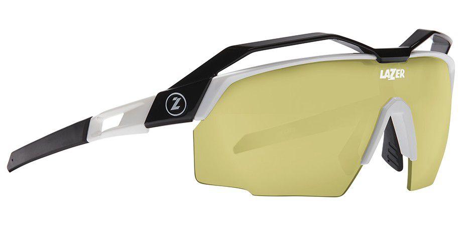 Lunettes Lazer Vento Matte Titanium + Top Noir/Jaune/Rouge - Ecran Photochromic