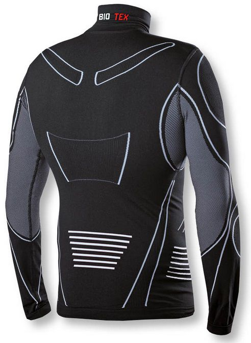 Maillot de Corps Biotex Powerflex Warm Hightech Zip 20cm Turtleneck Art.149.2 Compression Hiver Manches Longues Art.149.2