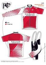 Maillot MC `Roulons Ensemble Contre Le Cancer` Zip Sép. Rouge