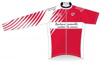 "Maillot ML ""Roulons Ensemble Contre Le Cancer\"" Rouge"