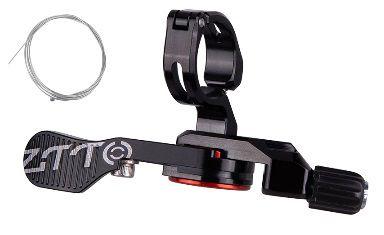 Manette ZTTO Blocage Mécanique Tige de Selle avec Câble - Noir/Rouge