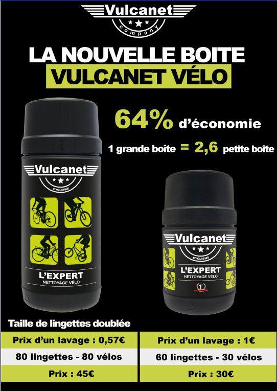Nettoyant Vulcanet Vélo Grand Modèle - Pot 80 Lingettes