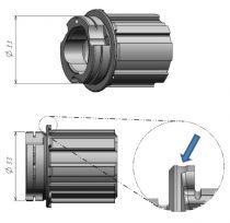 Noix Campa/Fulcrum XDR Acier Réf. R0-202S - d.33 mm