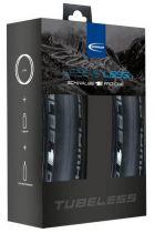 Pack 2 Pneus Schwalbe Pro One Tubeless Easy 700x25 + Liquide de montage + Préventif