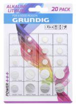 Pack de 20 Piles Grundig - Alcaline et Lithium