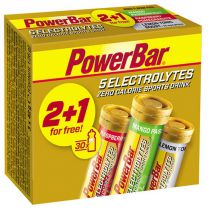 Pack PowerBar 2+1 Tubes 10 tablettes 5 Electrolytes mangue/framboise/citron