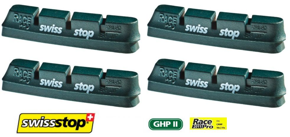 Patins SwissStop Race Pro Ghp2 Campagnolo (Jante Alu) - 2 Paires