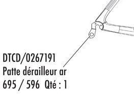 Patte Arrière Look 596/695