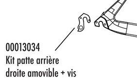 Patte Arrière Look 765 + Vis