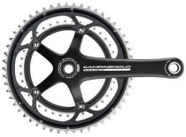 Pedalier Campagnolo Veloce Noir Double U.T. Alu 10v ss Cuv.- Coûtant