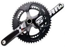 Pedalier Sram Red `Black` Compact Carbone + Cuvettes - 2012
