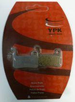 Plaquettes Frein Disque Semi-Métallique YPK Shimano LX/XT/XTR 2010