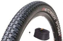 Pneu Hutchinson Python 2 TubeType 27.5x2.10 Tringles Rigides + Chambre valve Schrader 40mm
