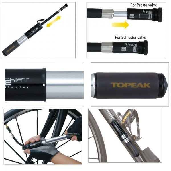 Pompe Mini Topeak Race Rocket Alu Raccord Flexible