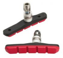 Porte Patins Jagwire V.Brake Mountain Sport BWP5008 Rouge Complets - Paire