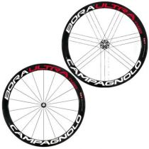 Roues Campagnolo Bora Ultra Two Carbone Boyau Stickers Blancs 2014