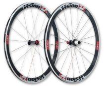 Roues Vision - FSA - Trimax T42 Carbone à Pneus Stickers Blancs