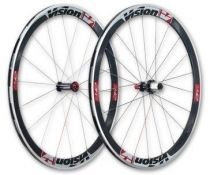 Roues Vision - FSA - Trimax T42 Carbone à Pneus Stickers Blancs