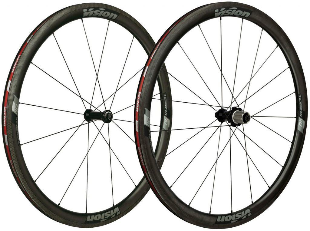 Roues Vision Trimax Carbone 40 LTD Pneus