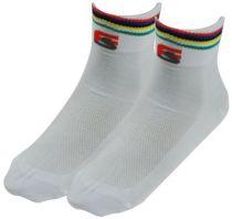 Socquettes Ferrus Olympic Coolmax Anti-Irritation Blanc & Arc en Ciel