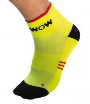 Socquettes Réfléchissantes Wowow Cycle Socks Jaunes