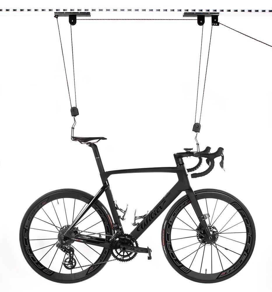 Support Lève Vélo Force Lifty sur Poulies