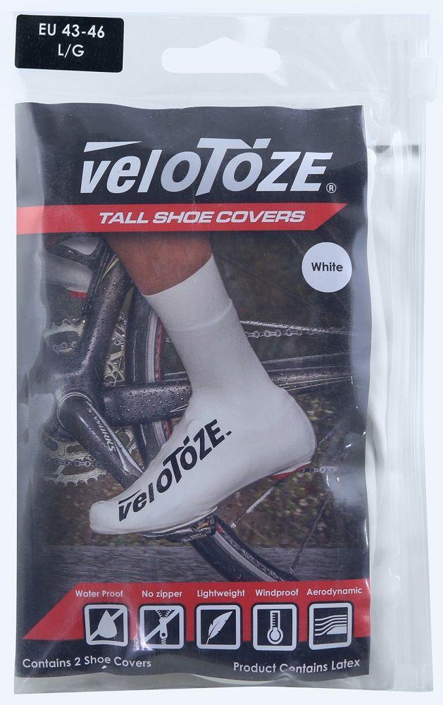 Sur Chaussures Pluie Velotoze Road Latex Blanc