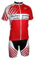 Tenue `Roulons Ensemble Contre Le Cancer` Rouge: Maillot MC+ Cuissard