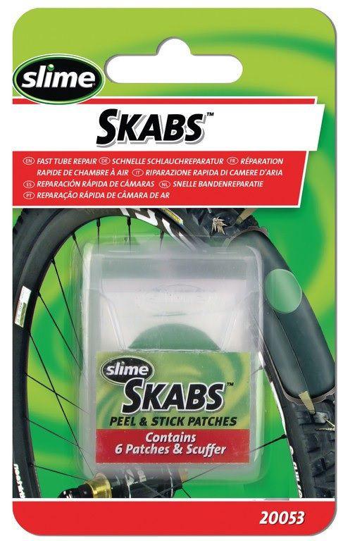 Trousse Slime Skabs - Vtt et Route : 6 Rustines Autocollantes