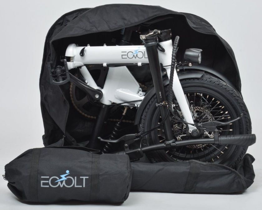 VAE Pliant Eovolt City 4-Speed + Housse Vélo et Porte-Bagages Offerts